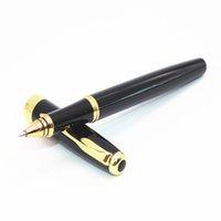 baoer 388 stifte großhandel-BAOER 388 Schwarz Business Medium Nib Tintenroller Gold Schwert Hook Trim Neu