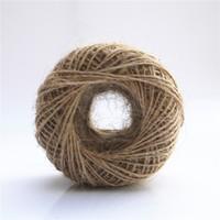 natürliche jute schnur schnur großhandel-Geschenkverpackung Hang Tag String 100m 1mm Schnur Jute Seil Schnur natürliche Seile DIY Haus Dekoratives handgemachtes Zubehör