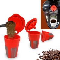Wholesale wholesale capsule machines - Reusable Coffee Filter Basket Dolce Gusto Coffee Capsule K-Cup Refillable Compatible Keurig Coffee Machines Tea Tools OOA4394
