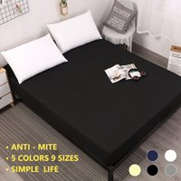 Wholesale minimalist bedding for sale - Group buy Fitted Sheet Solid With Elastic Band Bed Sheet Fabric Twin Full Queen Size Modern Minimalist PC