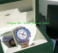 relógios de aço inoxidável venda por atacado-Fábrica de vendas homens movimento automático 44 MM MENS ROSA OURO 44 MM YM II MODELO # 116681 moldura de cerâmica com caixa original relógio de Mergulho