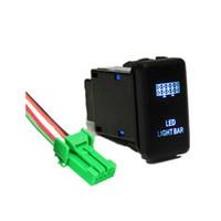 kit de luz de fio venda por atacado-LED Interruptor com Conector Fio Kit para Toyota 12 V Empurre Interruptor Gravura LED Barra de Luz Para Toyota Tacoma 2012-up Hilux 05-11