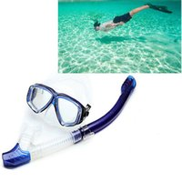 маска для воды оптовых-Professional High-quality PU Wear-Resistant Diving Water Sports Training Silicone Mask Snorkel Glasses Sets for man women