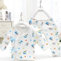 Wholesale Neonatal Baby - Newborns Combed Cotton Underwear Pure Cotton Baby two Pieces Four Seasons Clothes Baby Underwear Neonatal Bandage Underwear