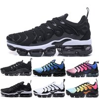 Wholesale male shoes blue for sale - Group buy Newest TN Plus Olive In Metallic White Silver Colorways Shoes Men Shoes For Running Male Shoe Pack Triple Black Mens Shoes