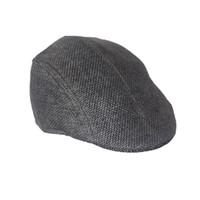 Wholesale Vintage Flax - 2017 New Design Mens Women Vintage Beret Cap Newsboy Flax Sunscreen Hat BK boina feminina boina masculina chapeau homme touca