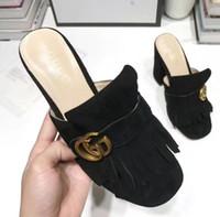 yeni varış yüksek topuklu ayakkabı toptan satış-2019 yeni varış kadın moda yüksek topuklu sandalet deri yumuşak süet rahat siyah sandalet ayakkabı bayan açık topuklu büyük boy 42 41 40 yeşil