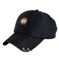 Wholesale Sequin Snapback - girl women beauty summer baseball cap brand hat bling luxury sequin casual floral snapback hip hop snap back hats woman caps
