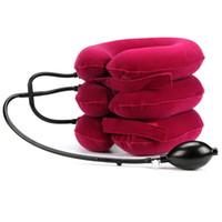 ingrosso trazione posteriore-Air Cervical Soft Neck Brace Dispositivo Mal di testa Dolore alla spalla posteriore Dispositivo di trazione cervicale Rilassamento al collo