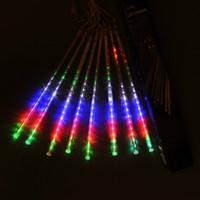 ampoules de pluie achat en gros de-1 Set LED lumière 30CM LED Ampoules Meteor Douche Pluie Neige Arbre De Noël Jardin En Plein Air Tubes Décoratifs étanche lumière