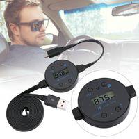 lcd bildschirmkabel großhandel-USB LCD Display Auto Bluetooth FM Transmitter Adapter Konverter 10 mt Kabel Drahtlose Musik Dongle