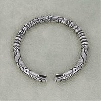 Wholesale Thai Silver Bracelets Men - whole saleNew 925 sterling silver jewelry retro Thai silver embossed personality domineering faucet opening bracelet for men t0296