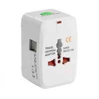 Wholesale usb plug converter - Universal International usb power plug adapter Plug Adapter 2 USB Port World Travel AC Power Charger Adaptor with AU US UK EU converter Plug