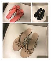 Wholesale comfort flip flops - Hot women flip flops Genuine leather bowtie, for beach hotel indoor shower room size 35-41 high quality comfort