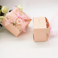 Wholesale laser engraved boxes resale online - Wedding Favor Boxes Laser Engraving Hollow Out Candy Box With Flower Originality Paper Gifts Boxes Baby Shower Party Decoration
