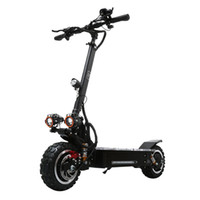 v tekerlekler toptan satış-11 inç elektrikli scooter 3200 W Off-road motor 60 V 20ah-30ah lityum pil Çift ön arka tekerlek sürücü üst hız 80 km / saat