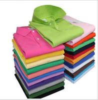 camisa de algodón para hombre estilo al por mayor-NewS-6XL nuevo estilo para hombre camisa de polo top cocodrilo bordado hombres manga corta camisa de algodón jerseys polos camisa ventas calientes ropa
