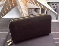 leder brieftaschen marken großhandel-Männer Designer Leder Lange Brieftasche Berühmte Marken Geldbörse Damen Lange Leder Brieftasche Luxus Weiblich