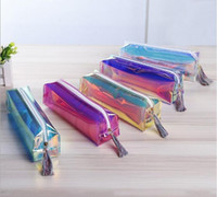 Wholesale bag school girl korea resale online - Japan and Korea Harbin laser transparent pouch creative simple girl tassel large capacity student stationery bag