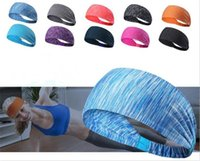Wholesale sweat headbands for sale - Group buy 300pcs Sport Headband Under Sweat Wicking Stretchy Athletic Bandana Headscarf Yoga Headband Head Wrap X106