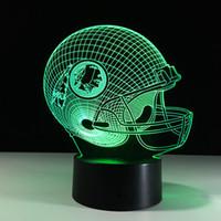 illusionen geschenke großhandel-Fußball-Freundschaftsgeschenke 3D-LED-Nachtlicht Farbe 7, die Gebäude USB-optische Täuschung Hauptdekor Tischlampe Neuheit-Beleuchtung für Kinder