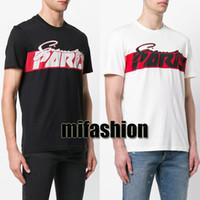 ingrosso camicie da uomo graffiti-18ss Estate Europa Paris Fashion Mens Designer di alta qualità in cotone Graffiti Tshirt Casual Tee Luxury T-shirt da donna