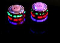 piscar beyblade venda por atacado-Novo Flash Giroscópio Giroscópio Luzes Coloridas Peg-Top Manual de LED Beyblade Música Top Selling Crianças Livre Spinning Top Brinquedos
