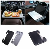 Wholesale food support - Car Steering Wheel Table Plastic Food Dining Tray Drink Cup Holder Computer Support Stand 2 Colors LJJO4895