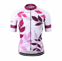 Wholesale plus size girls uniforms - Special sublimation women pink cycling jersey sports ladies purple bike uniform bicycle clothes UV outdoor female girl bike wear