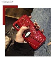 iphone sexy großhandel-YunRT Luxury fashion 3D metall schnalle niet glänzend leder hartplastik telefonkasten für iphone 6 S 7 8 plus X sexy klassische abdeckung
