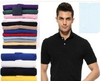 Wholesale Organic Cotton Business Shirts - Top Brand clothing New Men Polo Shirt Men Small Horse Embroidery Business & Casual solid male polo shirt Short Sleeve breathable polo shirt