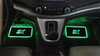 Wholesale colorful floor mats - 4pcs Car Interior Atmosphere Lamp Floor Mats LED Decorative Lamp APP control Colorful flashing Light RGB With Remote