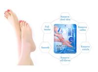 Wholesale Bamboo Foot Detox - ROLANJONA 2pairs lot Milk bamboo vinegar remover dead skin peeling foot mask smooth