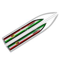 Wholesale emblem abarth - 20 x Car Styling 3D Body Fender Side Metal Chrome Zinc Alloy Knife Side Emblems Badges Car Accessories For Abarth 500 Punto