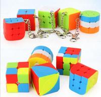 hızlı küp ücretsiz gönderim toptan satış-Çocuk Çocuk ücretsiz gönderim için Mini 3 sipariş Anahtarlık Magic Cube Hız Küp Puzzle Eğitici Oyuncak
