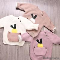 baby weiche jacke großhandel-Baby Pullover Baby Fleece T-Shirt Kind Blume Jacke Kind Jungen Hemd Warme Soft Top T-Shirt Mädchen Freizeitkleidung