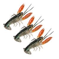 Wholesale shrimps lure resale online - Fishing Lure Bait cm Soft Fake Crawfish Shrimp Lobster Swimbait Claw Bait Isca Artificial Lure Bait Pesca