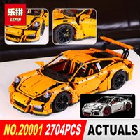 Wholesale Racing Car Toys - New LEPIN 20001 technic series Race Car Model Building Kits Blocks Bricks Compatible 42056 Boys Gift Educational Toys