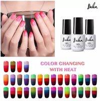 Wholesale gel nails polish colors for sale - Belen All Colors Transparent Nail Polish Temperature Color Changing UV LED Gel Nail Polish Gel Lak Varnishes Gelpolish
