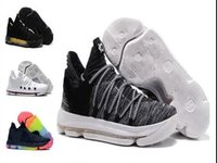 Wholesale kd prices - Sales KD 10 Oreo Black White men women kids shoes Store Kevin Durant Basketball shoes free shipping Wholesale prices 897815-001