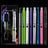kits ego purple venda por atacado-E-cigarros EVOD G5 Dry Herb Blister Ego Starter Kits 650mah 900mah 1100mah preto branco prata azul verde vermelho rosa SS roxo (08h049)