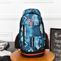 Wholesale women s clothing large online - KOBE Basketball Backpacks Large Capacity Leisure Travel Sport Men Women High School Teenager Students Knapsack Computer Bag by bb