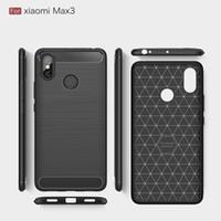 xiaomi tpu davası toptan satış-Xiaomi max3 için ücretsiz cep telefonu kılıfları kapak yumuşak tpu gömülü kapak için xiaomi mi max3 smartphone case