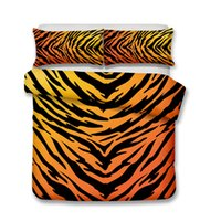 Wholesale queen size tiger bedding for sale - Tiger Pattern Kids Bedding Set Pillow Case and Quilt Cover Yellow All Size