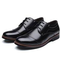 ingrosso oxford scarpe da lavoro-uomini scarpe da sera di lavoro convenzionale di affari in vernice morbida punta a punta per appartamenti di Oxford maschili uomini dell'uomo dimensionare 39-48