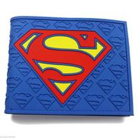 dc geldbörsen großhandel-DC Comics Superman Logo Geldbörse blau Kunststoff Leder Puppe Geschenk neu