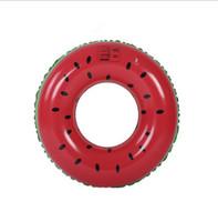anillo de salvavidas de juguete al por mayor-niños anillo de natación 60 cm de agua flotante boya colchón de agua ocio sandía anillos de natación niños Boya de vida juguetes de playa juguetes de verano
