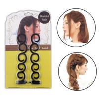 ingrosso set di intreccio dei capelli-2pcs / set Donne Braiding Machine Braider Strumento Tessuto Treccia Hair Styling Tools Accessori per capelli stile parrucchiere fai da te
