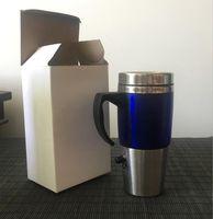 elektrisch beheizte tasse großhandel-Beheizter Reisebecher Auto Elektrische Tasse 450ML USB Auto Kaffee Getränke Thermoskanne Thermobecher Wasserkocher LJJO4585