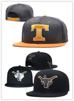 gorras ncaa gorras al por mayor-NCAA Texas Longhorns Snapback Caps 2018 Nueva universidad Sombreros ajustables All University Caps Grey Orange One Sze para todos
